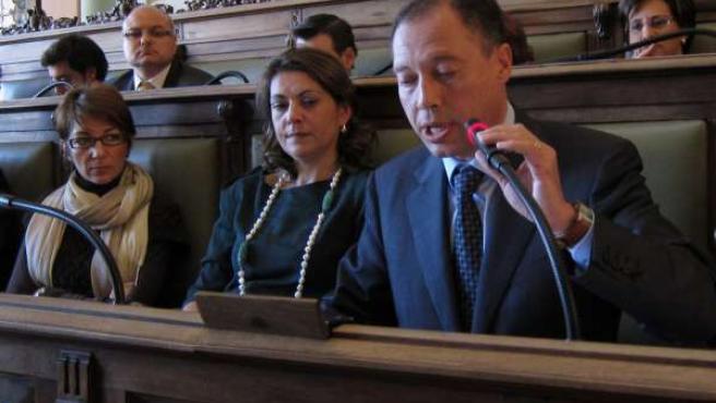 El concejal Alfredo Blanco, en un Pleno del Ayuntamiento de Valladolid