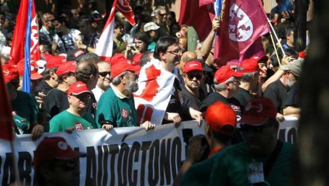 Manifestación de mineros por Madrid