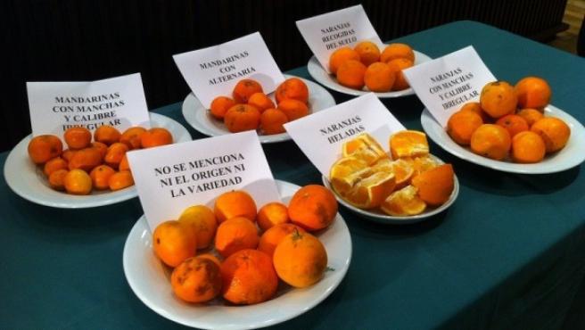 Naranjas de Valencia en mal estado.