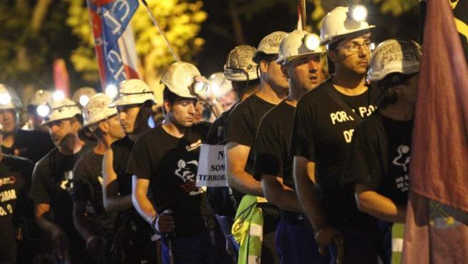 Los mineros, en Madrid.