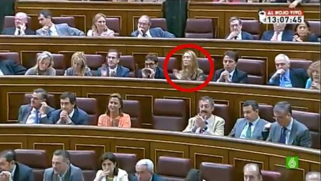 La diputada Andrea Fabra, en la sesión del pasado miércoles en el Congreso de los Diputados.