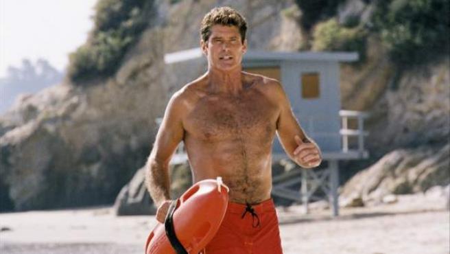 David Hasselhoff como Mitch Buchannon en 'Los vigilantes de la playa'.
