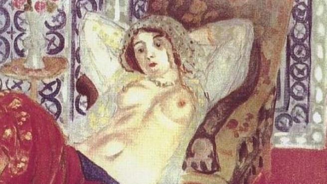 Odalisca con pantalón rojo, de Henry Matisse.