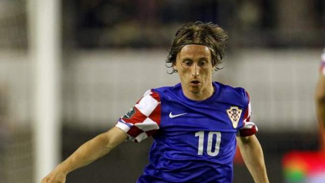 El jugador croata Luka Modric.