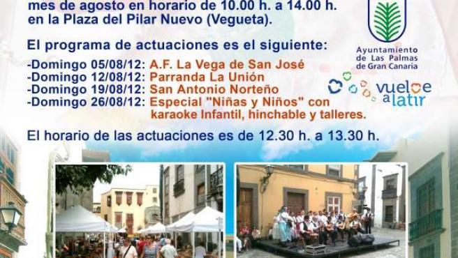 Cartel del Mercado de Artesanía y Cultura de Vegueta