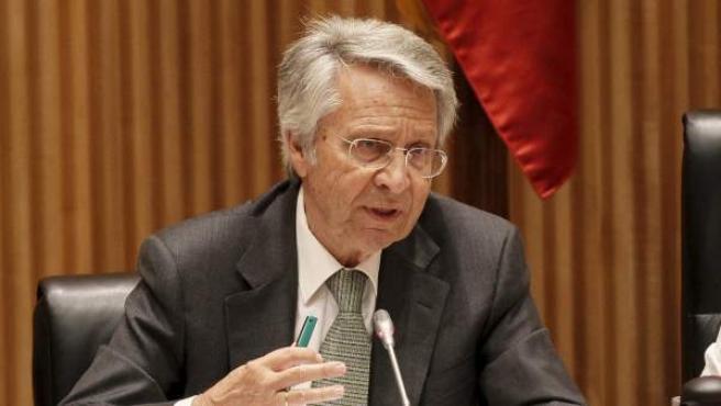 El expresidente de Novacaixagalicia y Caixanova Julio Fernández Gayoso, durante una comparecencia.