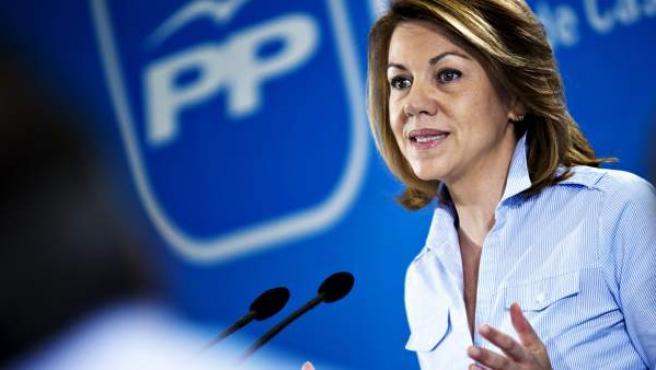 La secretaria del Partido Popular y presidenta de Castilla-La Mancha, María Dolores de Cospedal.