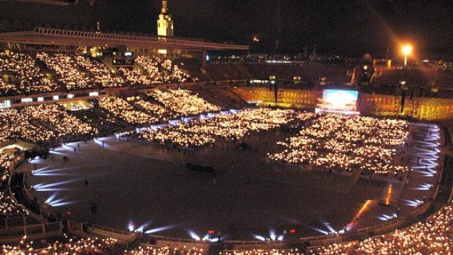 Imagen del Estadio Olímpico de Barcelona durante los Juegos de 1992.