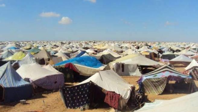 Imagen de archivo de un campamento saharahui.
