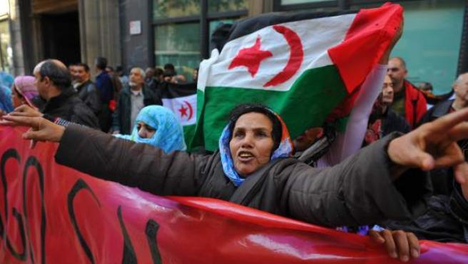 Imagen de archivo de una manifestación de apoyo a los saharauis.