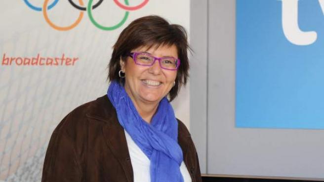 La presentadora María Escario.