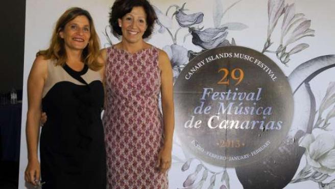 Candelaria Rodríguez e Inés Rojas