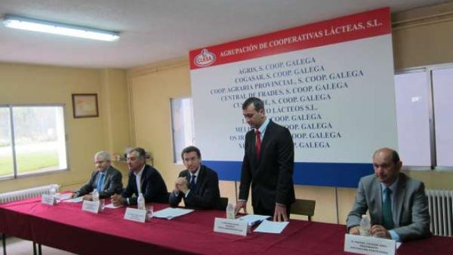 Núñez Feijóo, con los nuevos responsables de Clesa