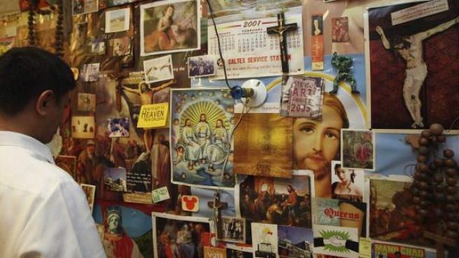 Imagen de la exhibición 'Politeísmo' que causó polémica en Manila.