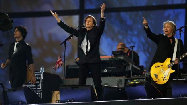 Paul McCartney, durante su actuación en la ceremonia de apertura de los Juegos Olímpicos de Londres.