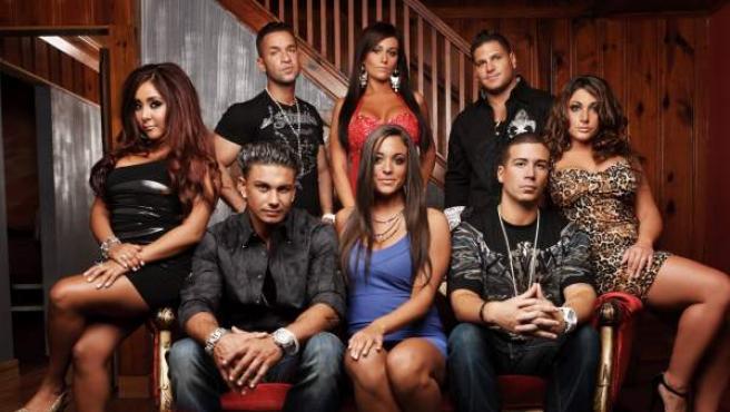 Imagen de algunos de los concursantes de 'Jersey Shore', el 'reality'' que inspira a 'Gandía Shore'.