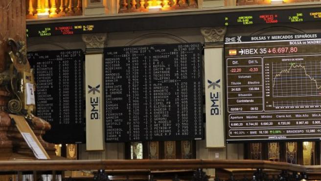La Bolsa de Madrid, este jueves.
