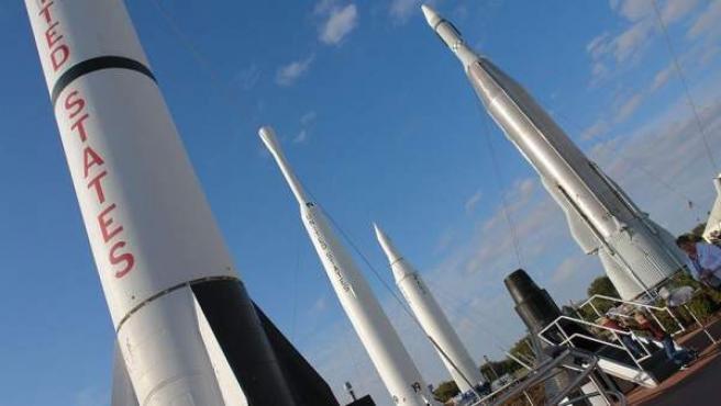 Parque de cohetes del Centro Espacial Kennedy, en Cabo Cañaveral (Florida).