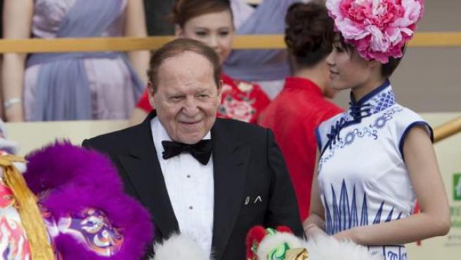 Sheldon Adelson, durante la inauguración de su complejo del juego en Macao (China).