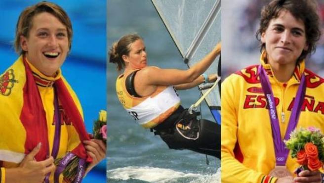 Mireia Belmonte, Marina Alabau y Maialen Chorraut consiguieron las primeras medallas de España en los Juegos Olímpicos de Londres 2012.