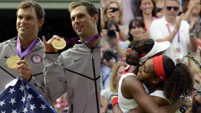 Los gemelos Bryan y las hermanas Williams, oro en el doble de los Juegos Olímpicos de Londres 2012.