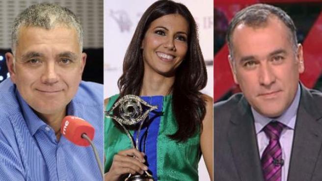 De izquierda a derecha, los periodistas Juan Ramón Lucas, Ana Pastor y Xabier Fortes.