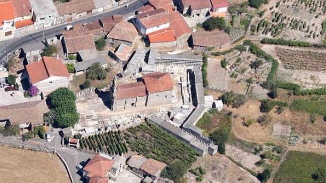 La iglesia del pueblo de Amoeiro.