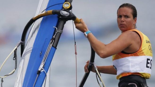 La española Marina Alabau, en acción.