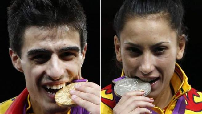 Joel González y Brigitte Yagüe, medallas en taekwondo.