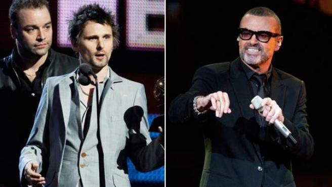 Dos de los componentes de Muse (izda.) y George Michael.