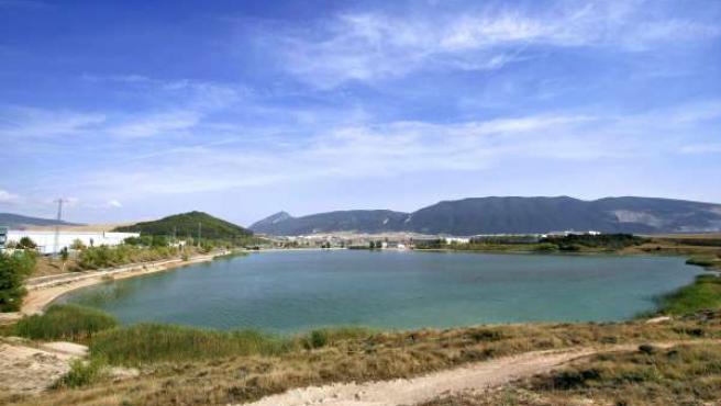 Balsa de la Morea, en Beriáin, una de las diez zonas naturales de baño