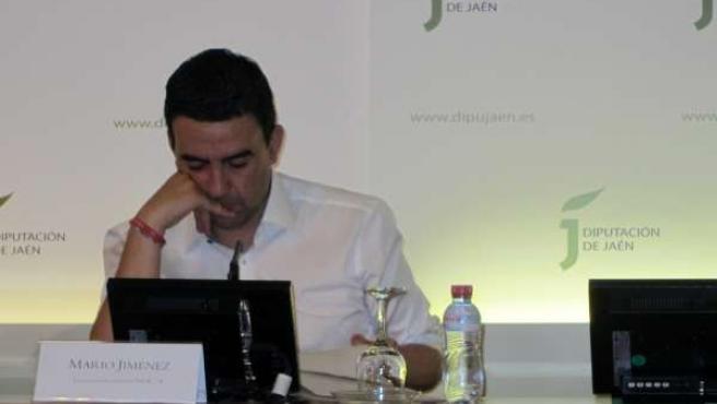 El Vicesecretario General Del PSOE-A, Mario Jiménez, En Rueda De Prensa.