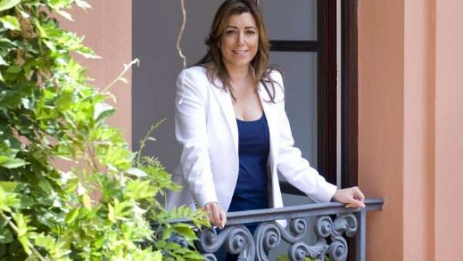 Susana Díaz, en el Palacio de San Telmo