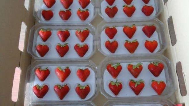 Fresas de corazón