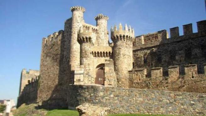 Una vista del Castillo de los Templarios en Ponferrada.