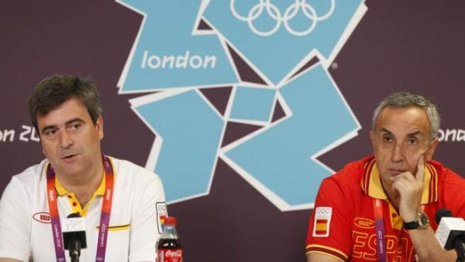 El presidente del Consejo Superior de Deportes, Miguel Cardenal, y el presidente del Comité Olímpico Español, Alejandro Blanco, hacen balance sobre los Juegos Olímpicos de 2012.