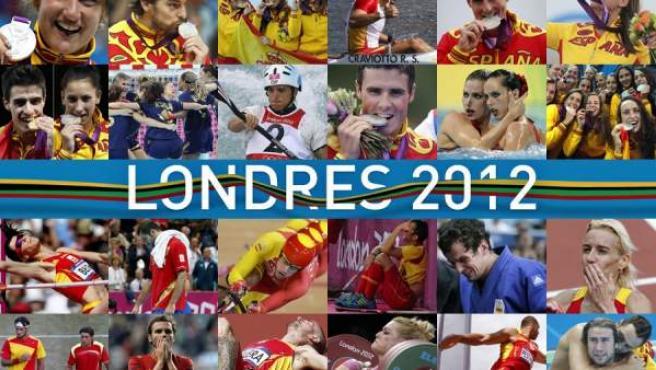 Medallas y decepciones. Resumen fotográfico de la actuación de los deportistas españoles en Londres 2012.