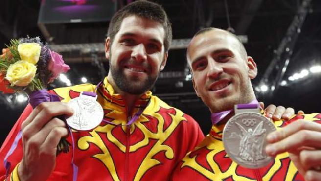 El jugador de baloncesto español, Felipe Reyes, plata en los Juegos Olímpicos de Londres 2012.