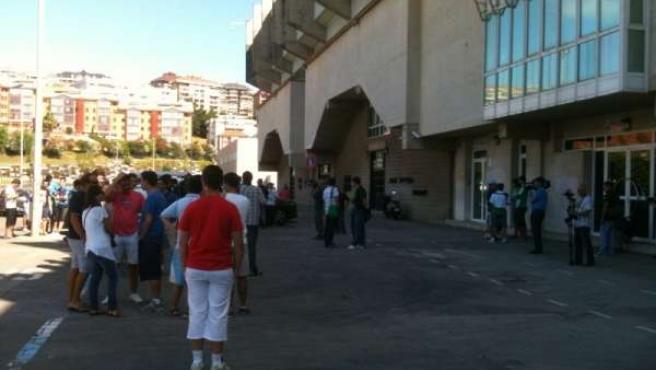 Protesta en los campos de Sport de El Sardinero