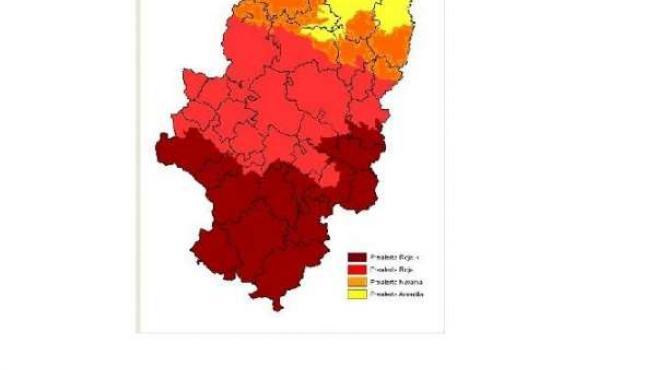 Prealerta + por riesgo de incendios forestales
