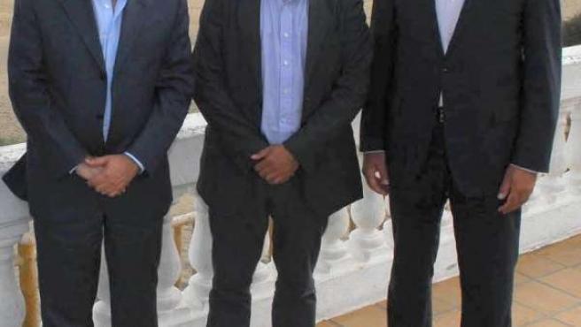 El alcalde de San Bartolomé de Tirajana junto a responsables de la OMT