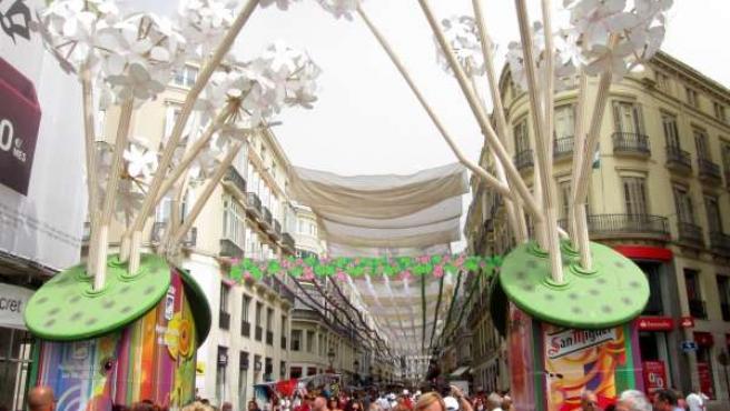 Portada de la Feria del centro de Málaga