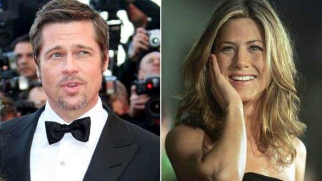 Los actores Brad Pitt y Jennifer Aniston.