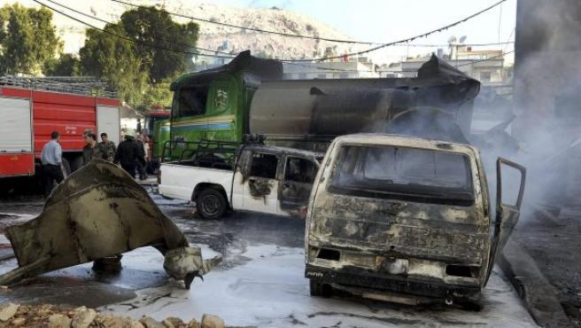 Una explosión registrada cerca del hotel de los observadores de la ONU en Damasco.