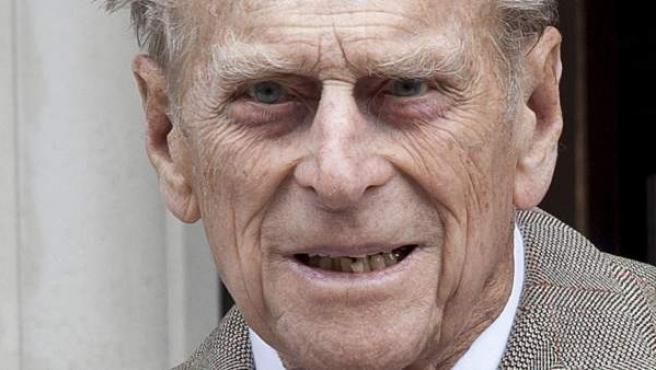 Imagen del pasado 9 de junio de 2012 que muestra al duque de Edimburgo, esposo de la reina Isabel II de Inglaterra en Londres, Reino Unido.