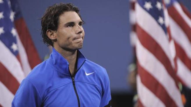 Rafa Nadal tras la final del US Open en la que cayó ante Djokovic.