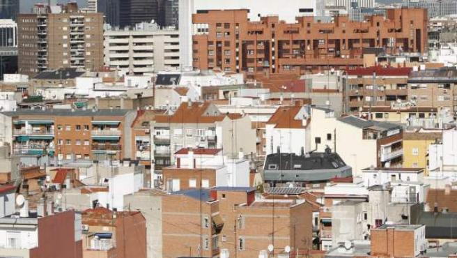 Bloques de viviendas en Madrid.