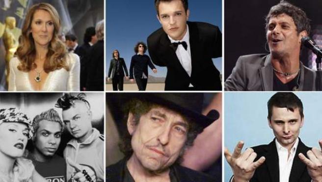 Celine Dion, The Killers, Alejandro Sanz, No Doubt, Bob Dylan y Muse, protagonistas de las próximas novedades discográficas.