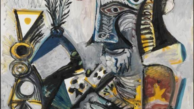 'El jugador de cartas II' (1971), una de las obras de Picasso incluídas en la muestra