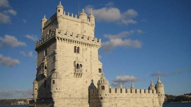 La Torre de Belem, junto al Tajo, en las cercanías de Lisboa.